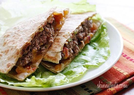 Skinny buffalo burger quesadilla skinnytaste for Buffalo fish taste