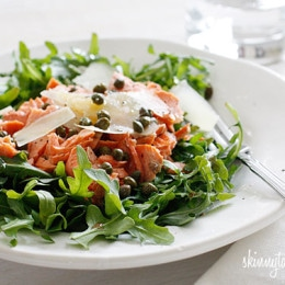 Arugula-Salmon-Salad-with-Capers-and-Shaved-Parmesan