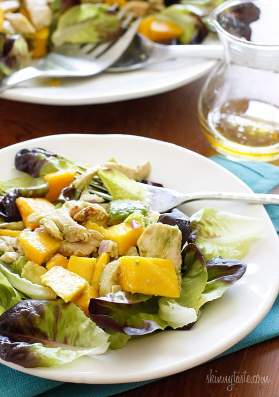 Grilled Chicken Avocado And Mango Salad Skinnytaste