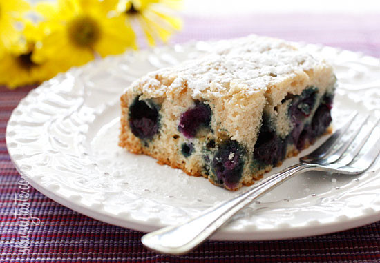 Easy Blueberry Buttermilk Cake – A simple summer cake loaded with fresh, juicy blueberries in a lightly sweetened, moist buttermilk cake. And yes, it's light too!