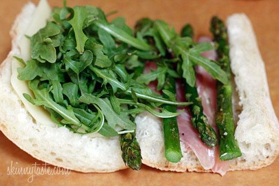 Asparagus Prosciutto Panini with Garlic Mayonnaise | Skinnytaste