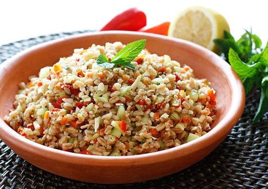 Home.fit mediterranean-farro-salad-550x387 Farro Salad with Feta, Cucumbers and Sun Dried Tomatoes