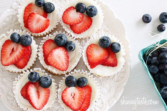 Red, White and Blueberry Cheesecake Yogurt Cupcakes ...