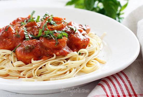Linguini And Shrimp Fra Diavolo Skinnytaste