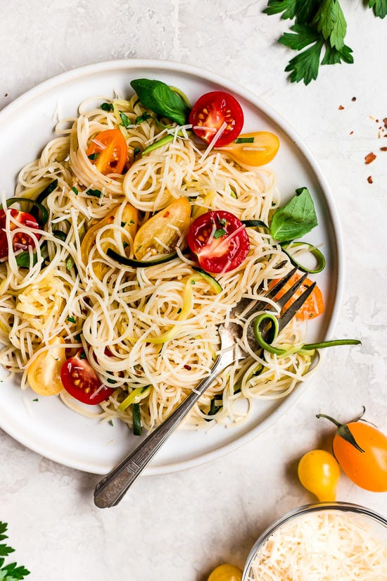 angel hair pasta with chicken recipe taste of home angel hair pasta with zucchini and tomatoes