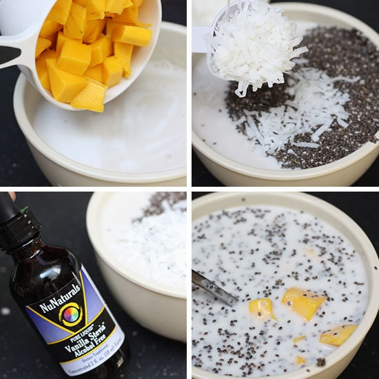 I'm addicted to coconut, combine that with mango and I'm in heaven! And, using chia seeds make an easy, healthy pudding which requires no cooking! Genius!