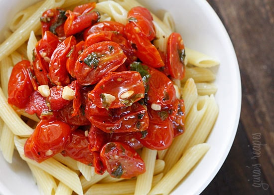 When grape tomatoes are overflowing in your garden, whip up a quick, easy tomato sauce! Grape or cherry tomatoes sauteed with olive oil, garlic and fresh herbs are perfect over pasta, grilled chicken or fish.
