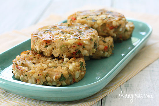 Baked Corn and Crab Cakes | Skinnytaste