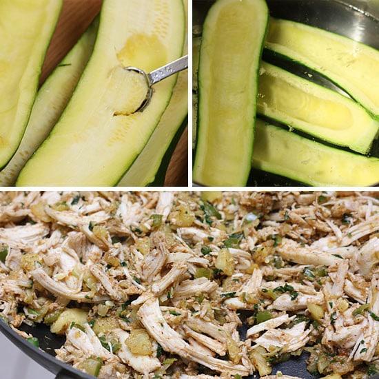 Chicken Enchilada Stuffed Zucchini Boats Recipes — Dishmaps