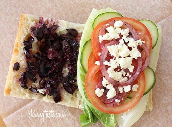 Greek Salad Sandwich | Skinnytaste
