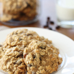 Once a month I contribute a skinny dessert recipe to Dash Recipes. If you love a moist, chewy oatmeal cookie, you'll just love these! Under 200 calories, 5 Points+ and 7 Smart Points for 2 cookies. Please visit Dash Recipes for the complete Skinny Oatmeal Walnut Raisin Cookies Recipe.