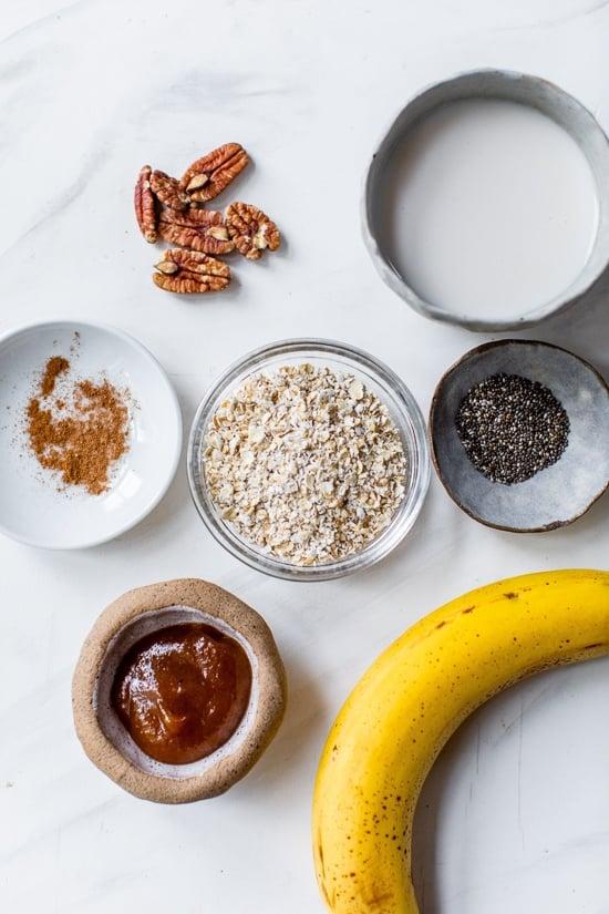 ingredients for pumpkin oats