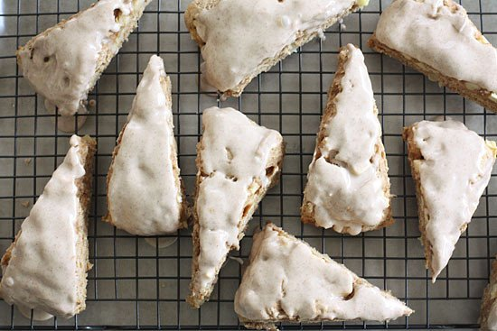 Delightful Apple Spiced Scones with Spiced Glaze | Skinnytaste