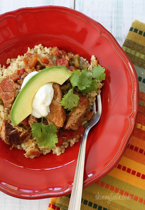 Slow Cooker Pork and Green Chile Stew