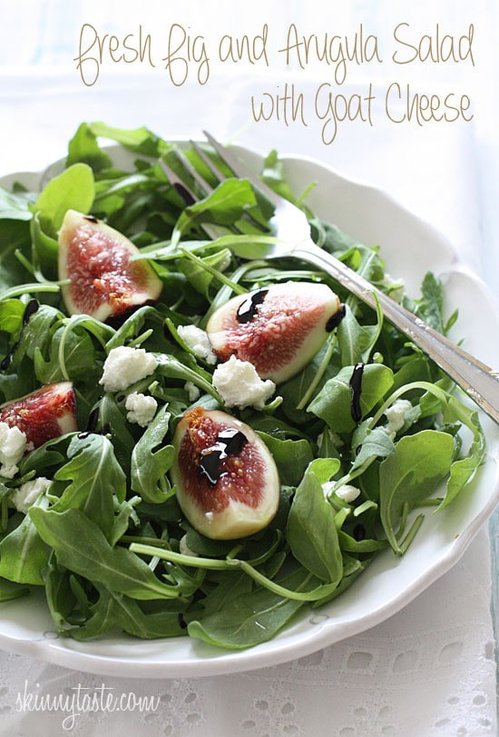 Fresh Fig And Arugula Salad With Goat Cheese | Skinnytaste
