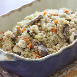 Quinoa-Stuffing-with-Mushrooms-and-Fennel