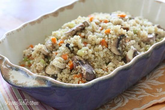 Mushroom Fennel Quinoa Stuffing   Skinnytaste