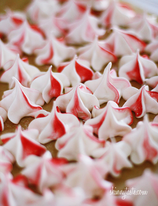 Light and airy peppermint swirls in delicious meringues cookies. 'Tis the season for all things peppermint, shopping and big wooly mittens, cookies and hot cocoa, and of course, cookie exchanges.