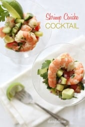 Shrimp cocktail is fine, but when I want something special, I like to have my zesty lime shrimp ceviche style!