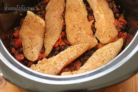Add the beans and tomatoes to the crock pot and season with the ...
