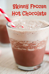 Skinny Frozen Hot Chocolate – A dreamy, icy blend of chocolatey goodness, without the guilt!