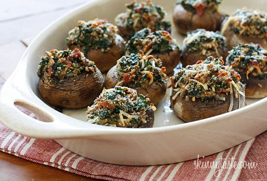 ... spicy spinach stuffed mushrooms recipes dishmaps spicy spinach stuffed