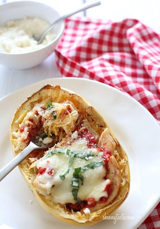 spaghetti squash chicken parmesan casserole recipe