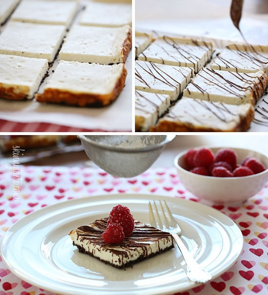 Skinny Chocolate Raspberry Cheesecake | Skinnytaste