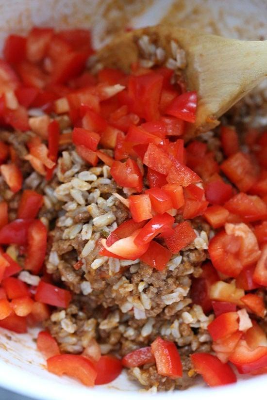 Crock Pot Picadillo Stuffed Peppers | Skinnytaste