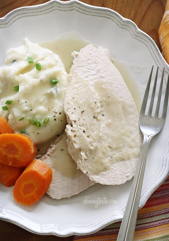Looking for an easy way to prepare turkey breast that doesn't require too much attention, this is it! Juicy turkey breast with a rich turkey gravy, all in your slow cooker. With Thanksgiving around the corner, I thought I would share this from the archives.