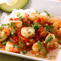 A quick shrimp stew cooked in a tomato coconut broth with a hint of lime and cilantro. Simple enough to make for a weekday dinner yet sophisticated enough to serve to company. Serve with a little brown basmati rice to soak up the broth.