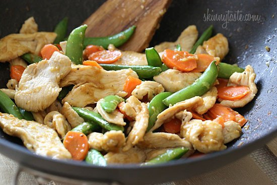 Spring Stir Fried Chicken With Sugar Snap Peas And Carrots Skinnytaste
