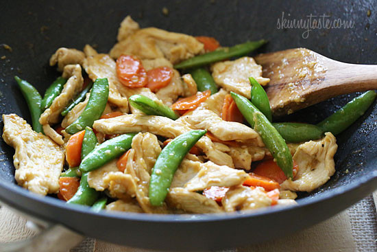 Spring Stir Fried Chicken with Sugar Snap Peas and Carrots ...
