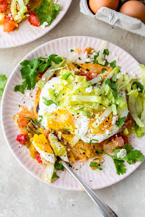 Mexican Eggs with tortillas