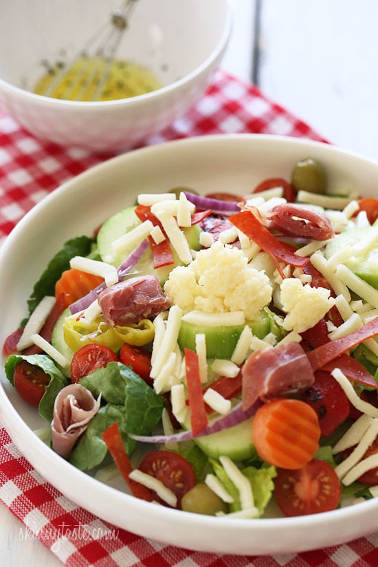 This colorful, Italian Antipasto Salad is perfect for lunch and so easy to make!