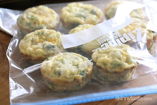 I love making a batch of these easy breakfast Broccoli and Cheese Egg Muffins for meal prep. Perfect to make ahead for easy breakfast on the go.