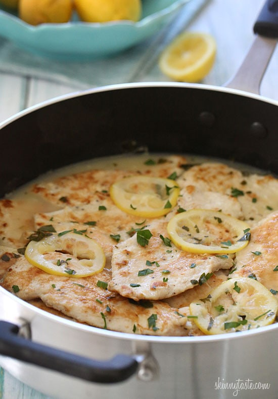 Chicken Francese is an Italian-American dish made with sautéed chicken cutlets with a lemon-butter and white wine sauce. It's my husband's favorite dish, so it's always on rotation in my house!