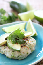 These shrimp cakes are light and delicious, made with jalapenos, scallions, and cilantro then topped with a little fresh lime juice and a few slices of avocado.