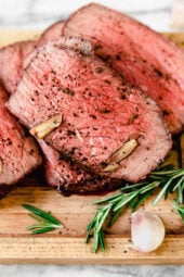 Garlic Lovers Roast Beef is my favorite roast beef recipe, so flavorful and loaded with garlic as the name implies.