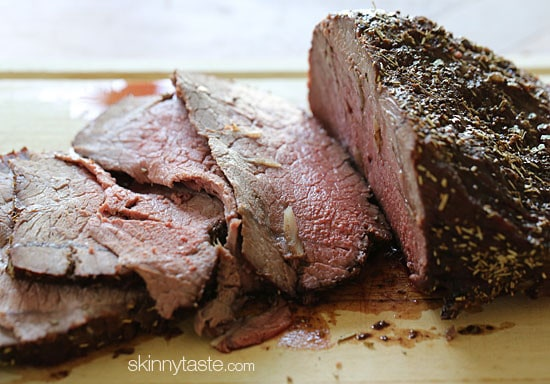 Vampires beware, there's garlic in every bite of this garlic lover's roast beef! And if that's not enough garlic, I like to serve this with my roasted broccoli with smashed garlic and skinny garlic mashed potatoes... in my house, there's never too much garlic.