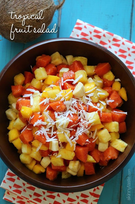 Tropical Fruit Salad Recipe | Skinnytaste