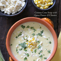 Creamy-Corn-Soup-with-Queso-Fresco-and-Cilantro