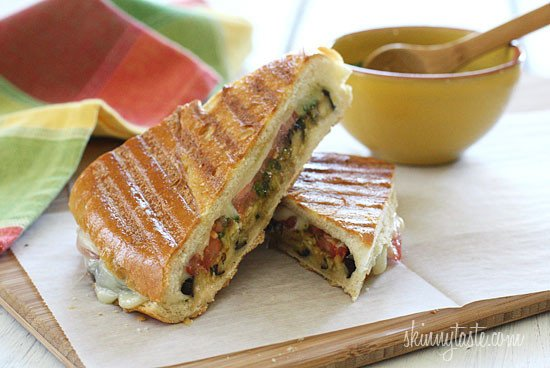 Eggplant Panini with Pesto | Skinnytaste