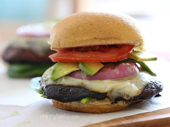 The Best Grilled Portobello Mushroom Burger Skinnytaste