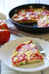 Garden tomatoes, summer zucchini, and Asiago cheese make a scrumptious frittata that highlights the end of summer's bounty.