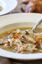 My family loves this Chicken Shiitake and Wild Rice Soup, it's so hearty soup and and perfect when you want comfort food.