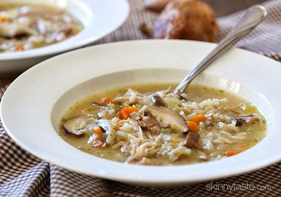 Chicken Shiitake And Wild Rice Soup Skinnytaste