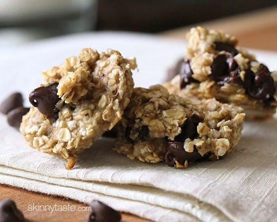 Chewy Chocolate Chip Oatmeal Breakfast Cookie Skinnytaste