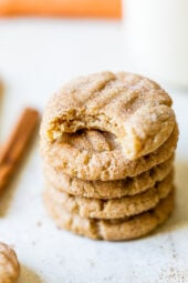 Skinny Pumpkin Snickerdoodles stacked