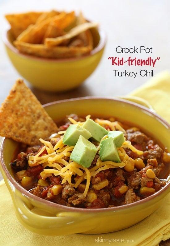 Crock Pot Kid Friendly Turkey Chili Recipe